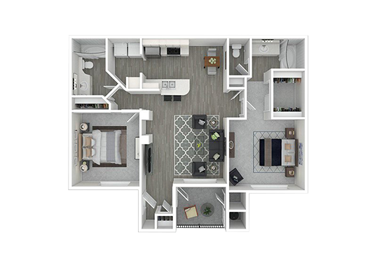 Floorplan for The Villas at 6300 Apartments