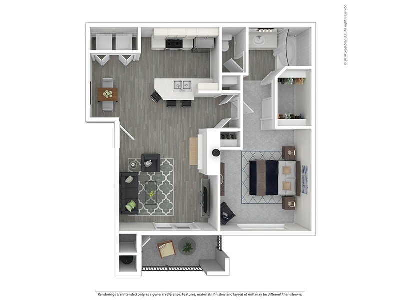 Our 1X1R is a 1 Bedroom, 1 Bathroom Apartment