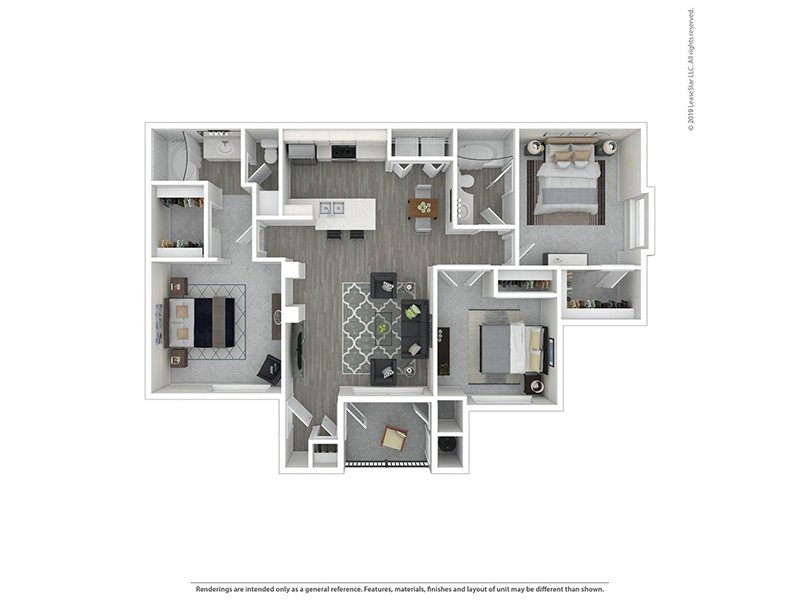 Our 3X2R is a 3 Bedroom, 2 Bathroom Apartment