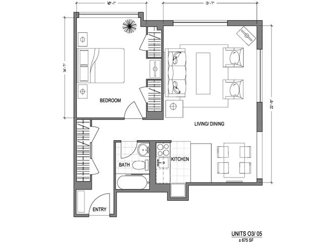 Our 1X1_675 is a 1 Bedroom, 1 Bathroom Apartment
