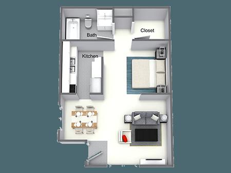 Floorplan for Park Hill Apartments