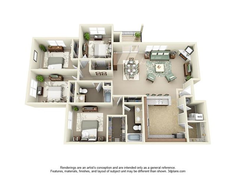 Floor Plans at Jory Trail at The Grove Apartments