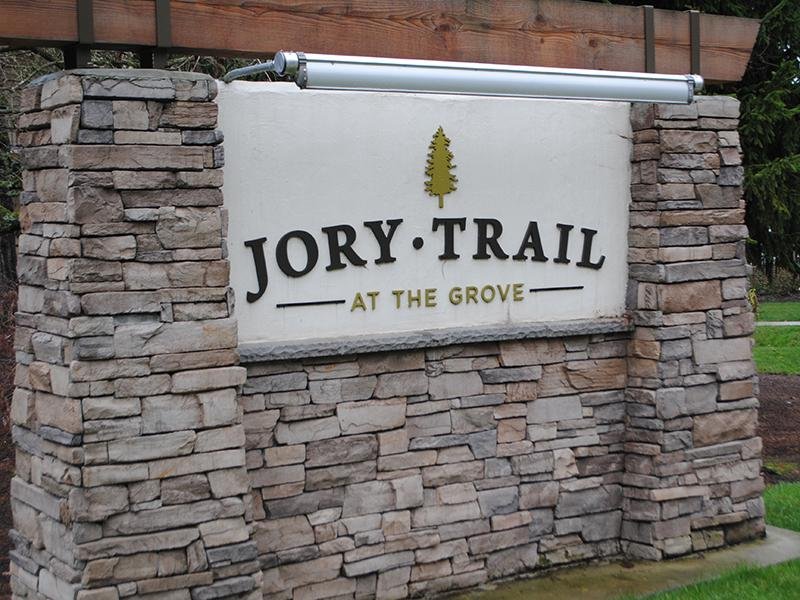 Sign | Jory Trail at The Grove