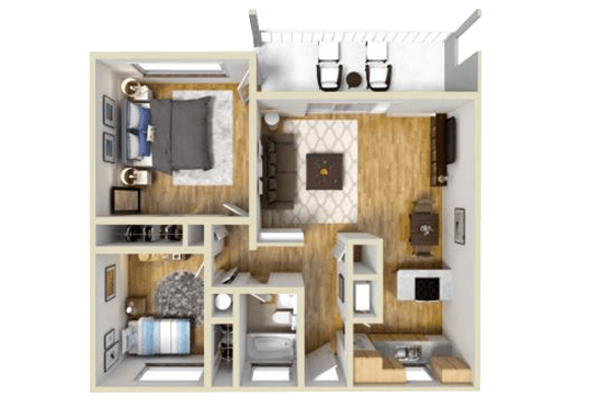 Floorplan for Casa Arroyo Apartments