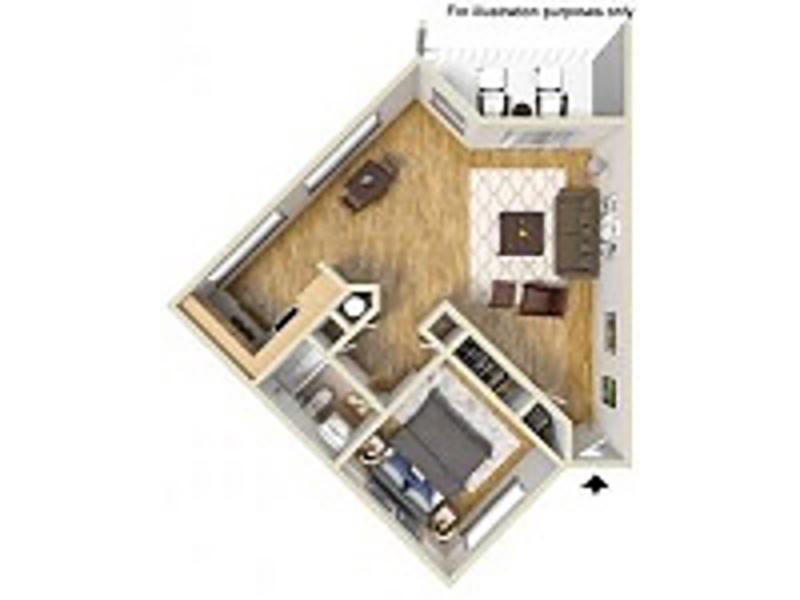 Our 1 Bedroom 1 Bathroom C is a 1 Bedroom, 1 Bathroom Apartment