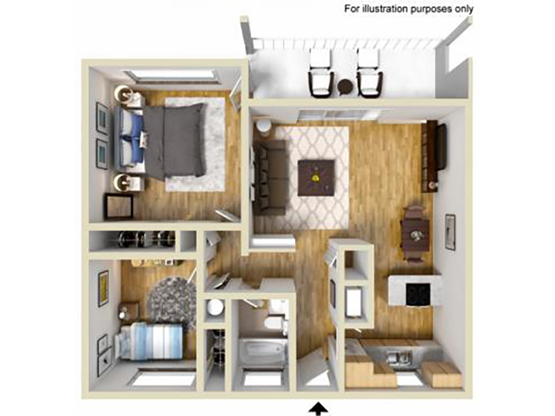 Our 2 Bedroom 1 Bathroom A is a 2 Bedroom, 1 Bathroom Apartment