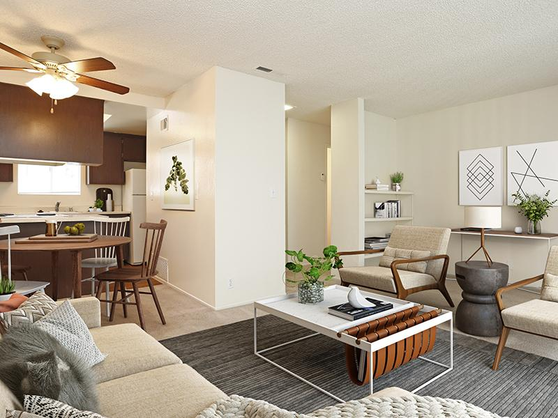 Casa Arroyo | Living Room & Kitchen