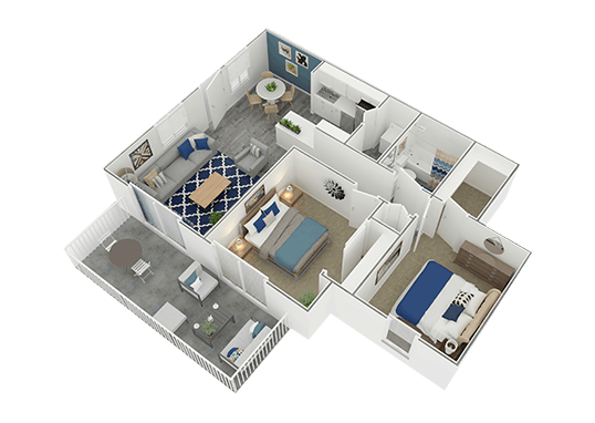 Floorplan for The Charleston Apartments