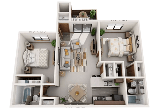 Floorplan for Parkside Commons Apartments