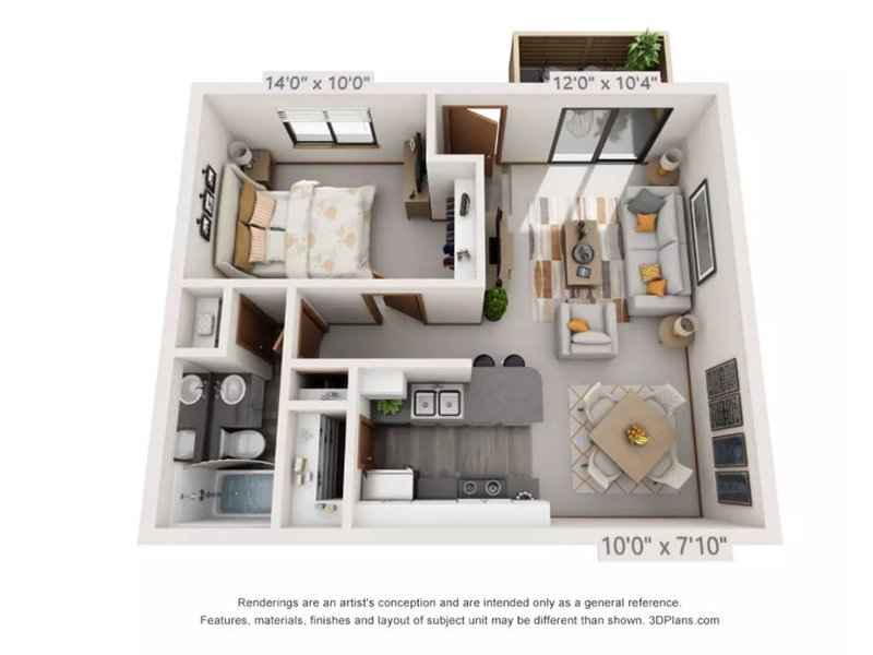 Our 1x1STRCK is a 1 Bedroom, 1 Bathroom Apartment