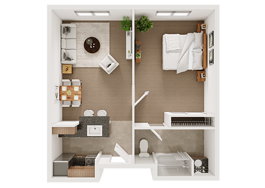 Floorplan for The Villa at San Mateo Apartments