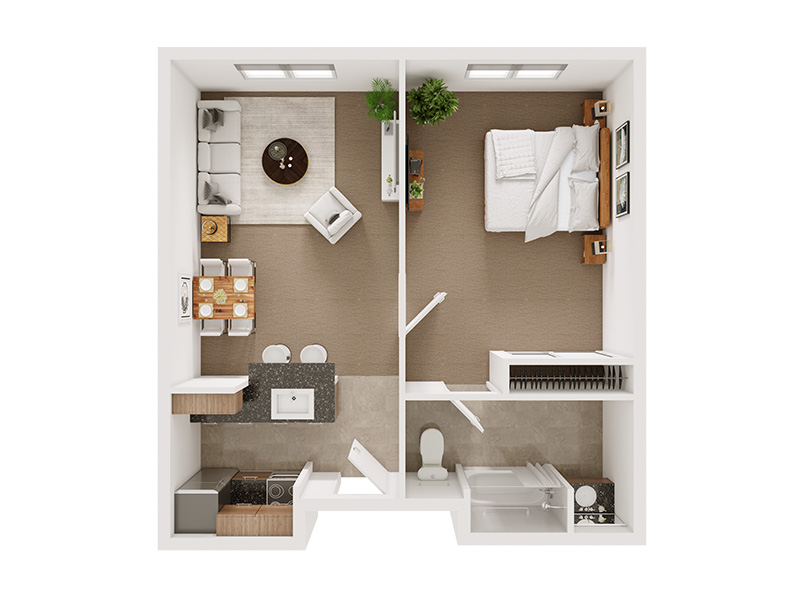 Our The Bogart is a 1 Bedroom, 1 Bathroom Apartment