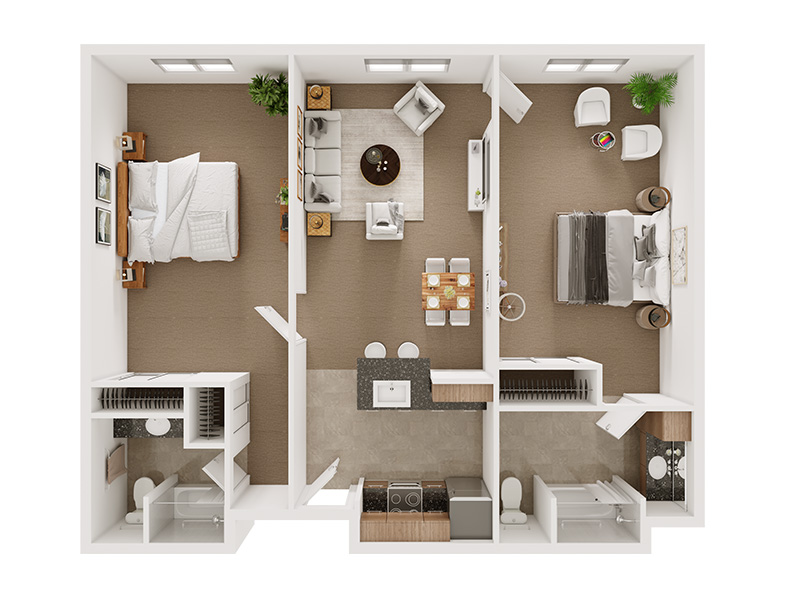 Our The Hepburn is a 2 Bedroom, 2 Bathroom Apartment