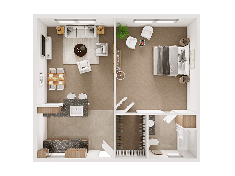 Our The Hudson is a 1 Bedroom, 1 Bathroom Apartment
