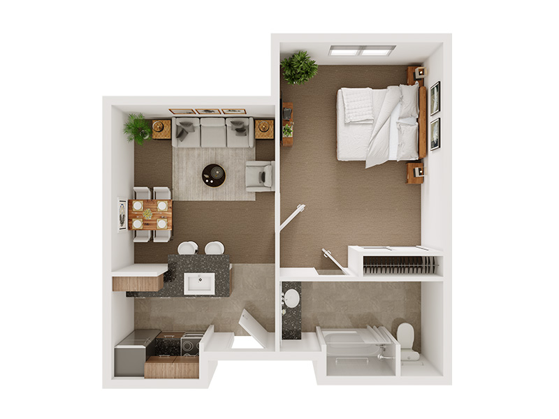 Our The Martin is a 1 Bedroom, 1 Bathroom Apartment