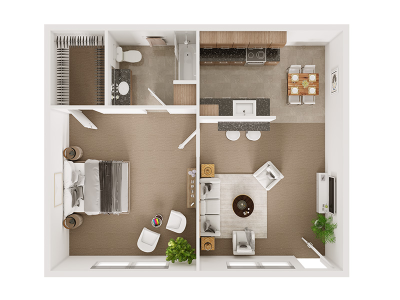 Our The Monroe is a 1 Bedroom, 1 Bathroom Apartment