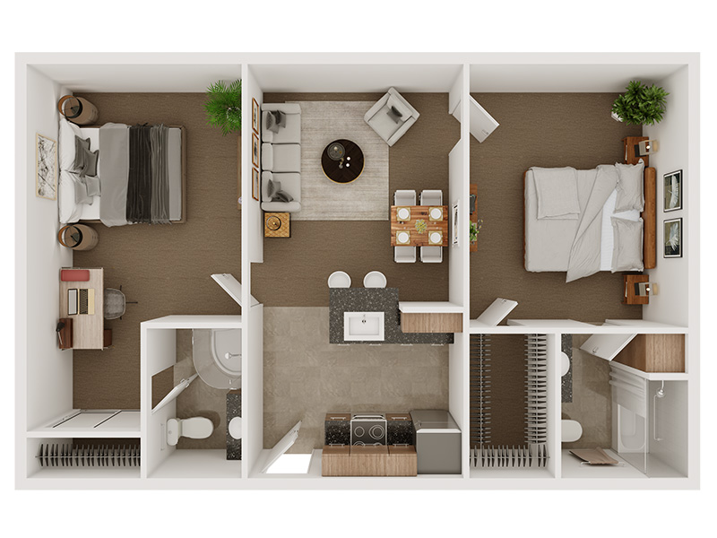 Our The Sinatra is a 2 Bedroom, 2 Bathroom Apartment