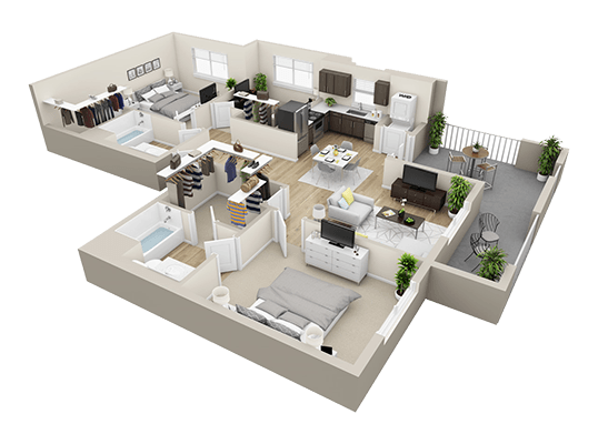 Floorplan for Tempo at Riverpark Apartments