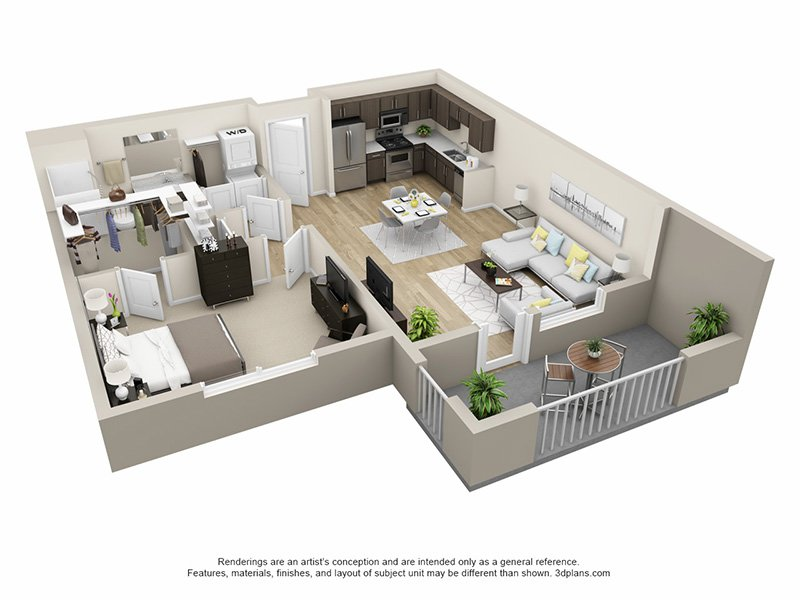 Floor Plans at Tempo at Riverpark Apartments