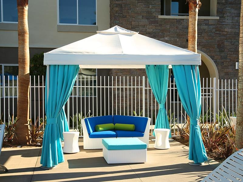 Poolside Cabanas | Tempo at Riverpark Apartments