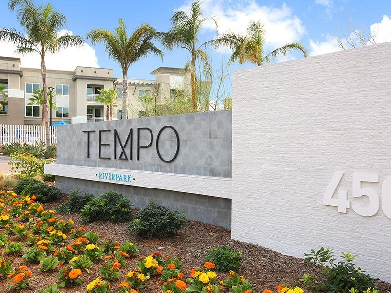 Welcome Sign | Tempo at Riverpark Apartments