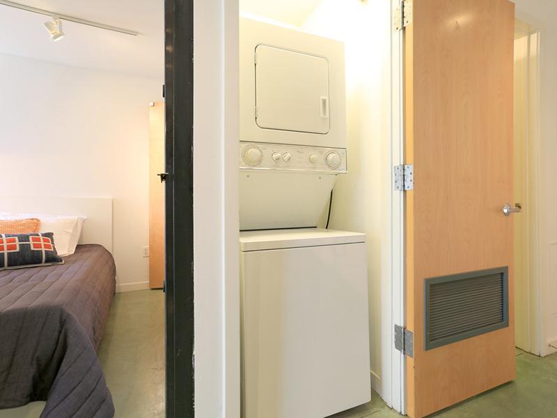 Washer & Dryer | Glasdore Lofts Apartments in San Francisco, CA