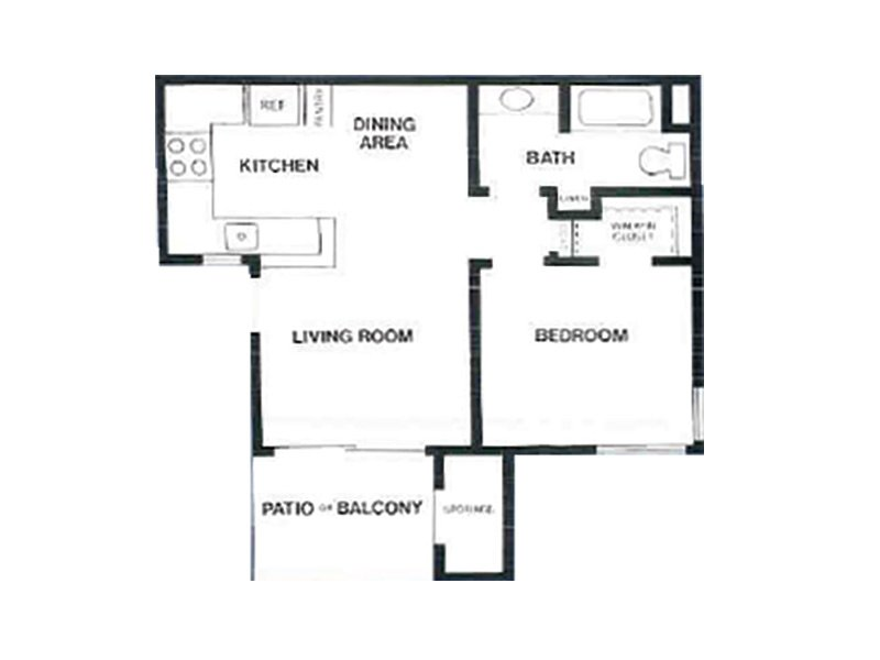 Our 1X1 D is a 1 Bedroom, 1 Bathroom Apartment