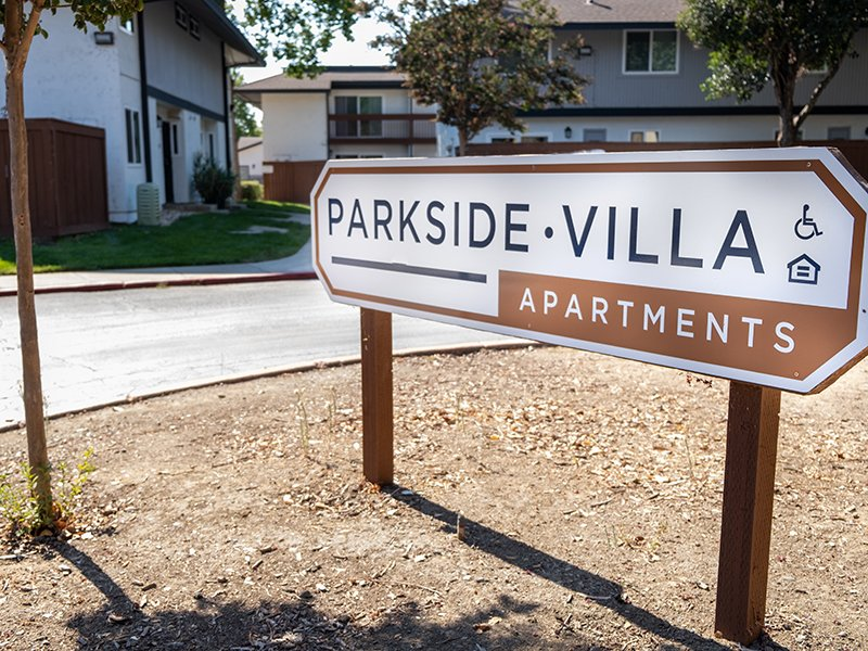 Welcome Sign   Parkside Villa Apartments in Fairfield, CA
