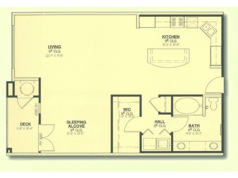 Floor Plans at San Pedro Bank Lofts Apartments