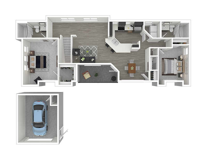 Our B2 - 2 Bedroom 2 Bath is a 2 Bedroom, 2 Bathroom Apartment