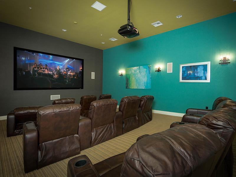 Theater Room | Cornerstone Park Henderson Apartments