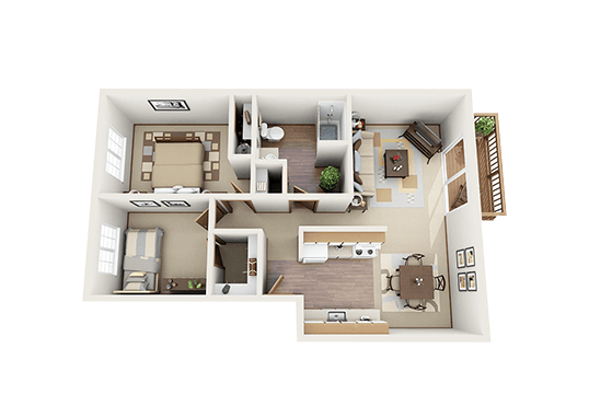 Floorplan for Bridge Creek Apartments