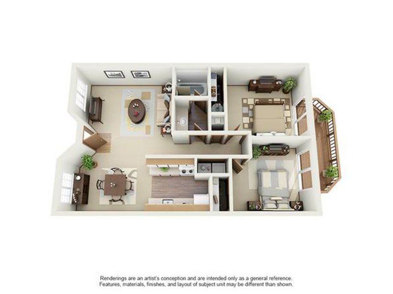 Our 2X1C is a 2 Bedroom, 1 Bathroom Apartment