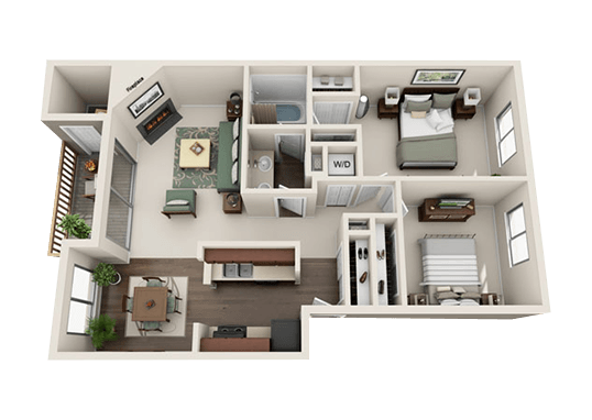 Floorplan for Pointe East Apartments