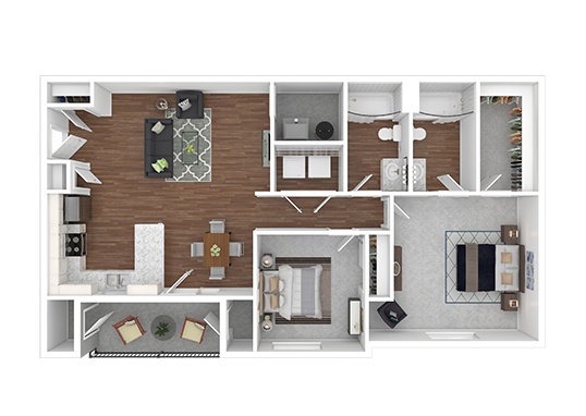 Floorplan for Mountain Valley Meadows Apartments