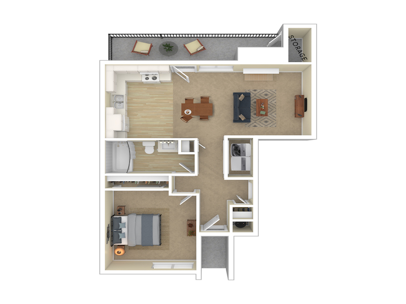 Our 1 Bedroom 1 Bathroom 750 is a 1 Bedroom, 1 Bathroom Apartment