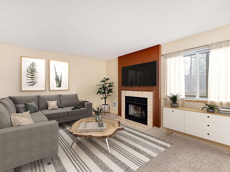 Living Room | Van Plaza Apartments in Vancouver, WA