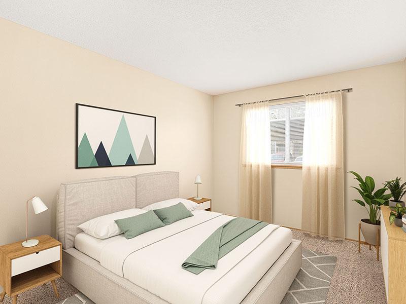 Bedroom | Van Plaza Apartments in Vancouver, WA
