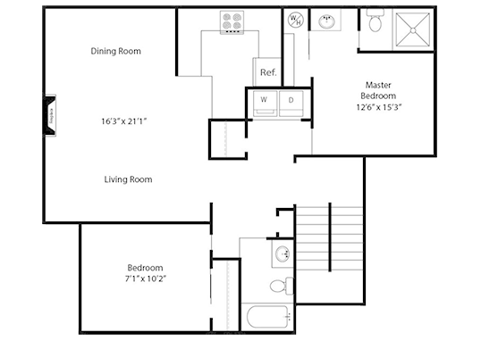 Floorplan for Creekside Village Apartments