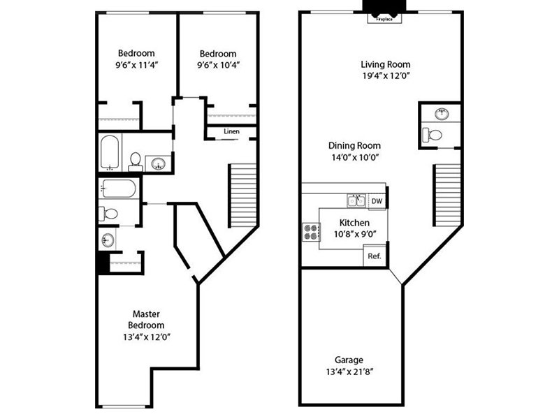 Our 3 Bedroom 3 Bathroom Townhome R is a 3 Bedroom, 3 Bathroom Apartment