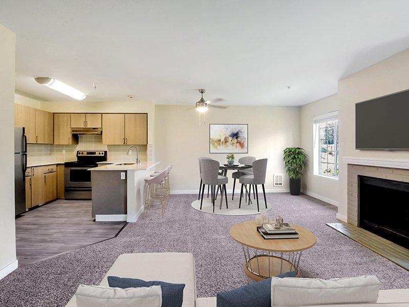 Model Living Room & Dining Room | Creekside Village