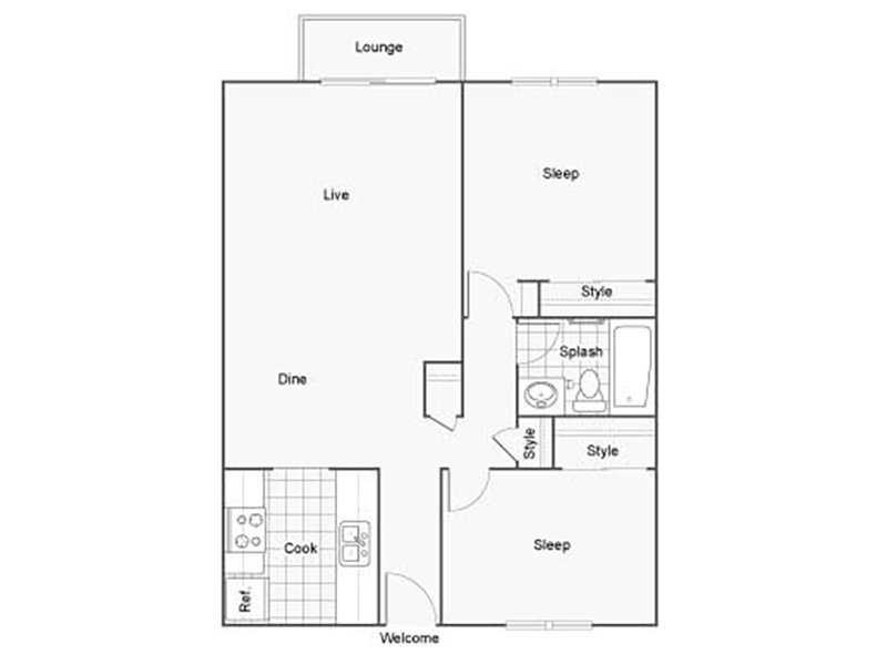 Our 2X1B is a 2 Bedroom, 1 Bathroom Apartment