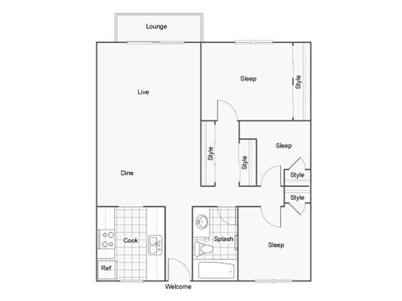 Our 3X1B is a 3 Bedroom, 1 Bathroom Apartment