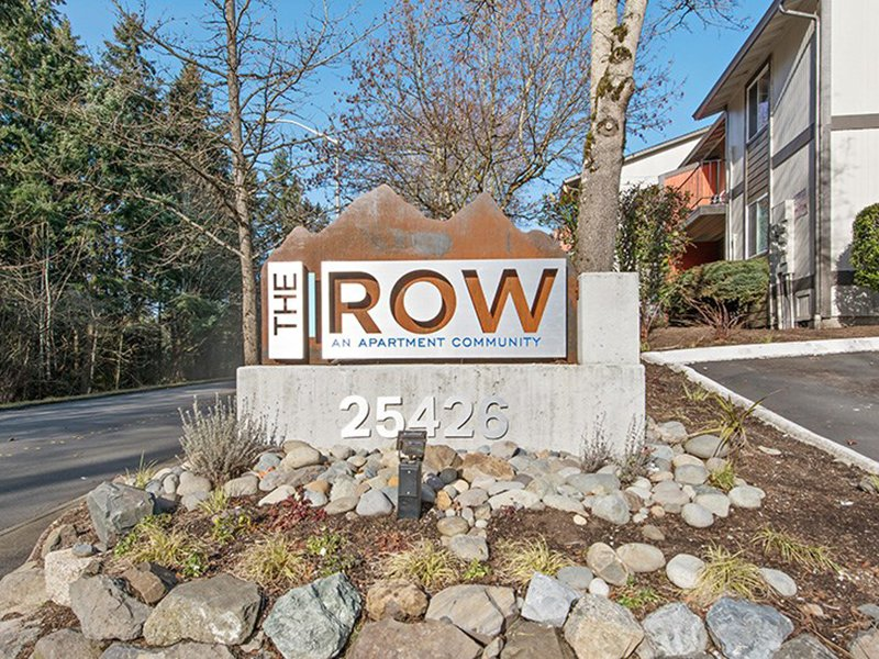 Monument Sign | The Row Apartments