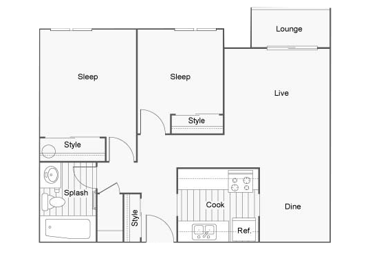 Floorplan for The Union Apartments