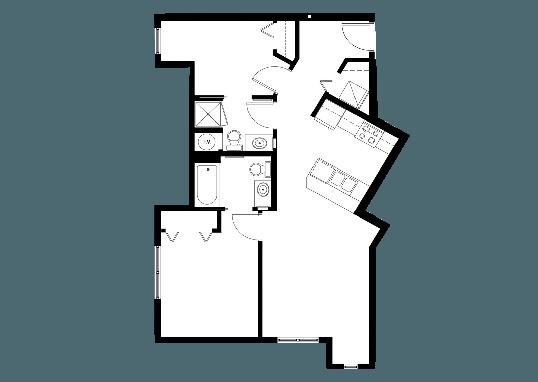 Floorplan for 999 Hiawatha Apartments
