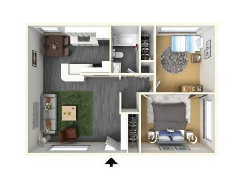 Floor Plans at The Parker Apartments