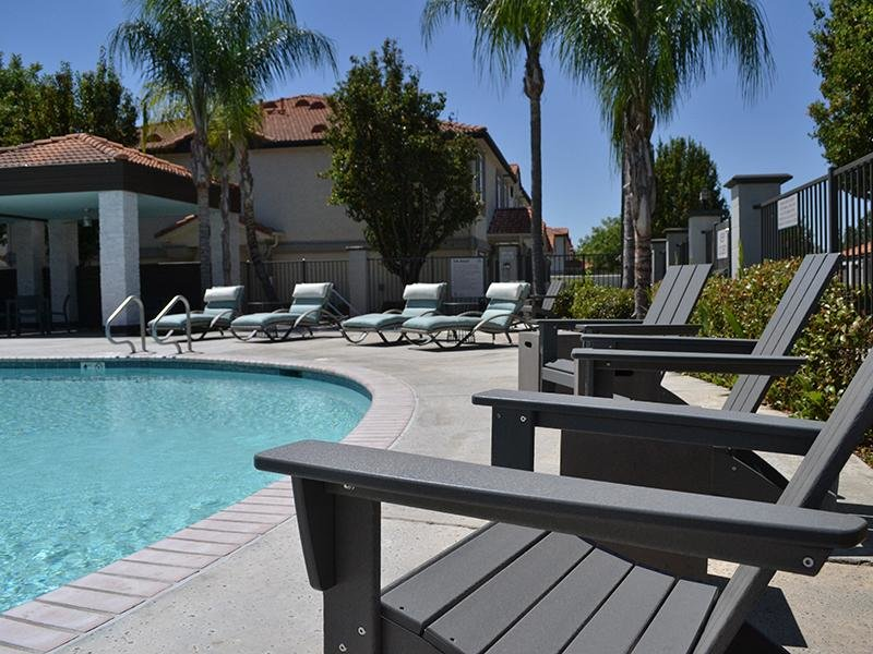 Pool Side | Ascent Townhomes in Fresno, CA