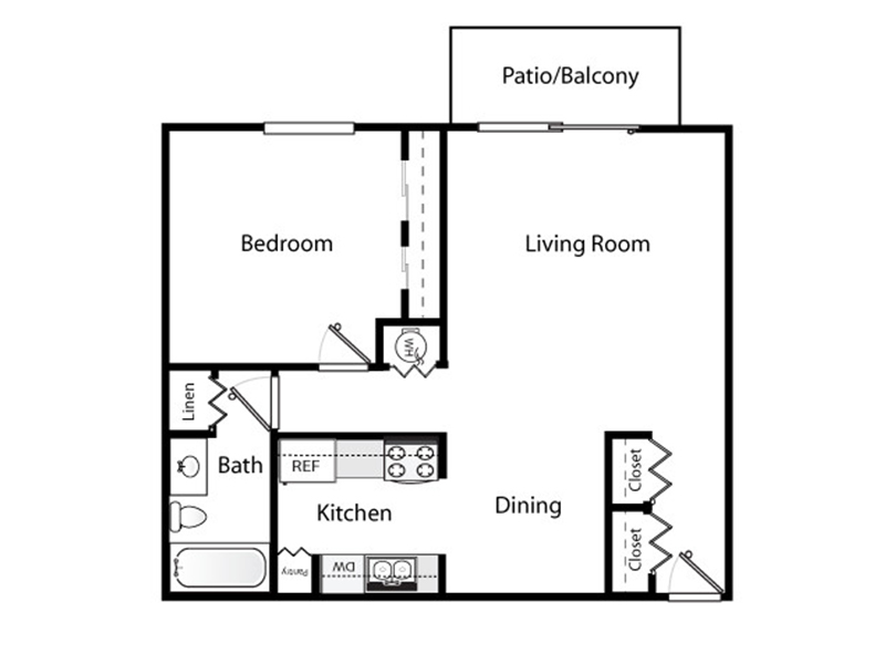 Our 1x1 Renovated Plus is a 1 Bedroom, 1 Bathroom Apartment