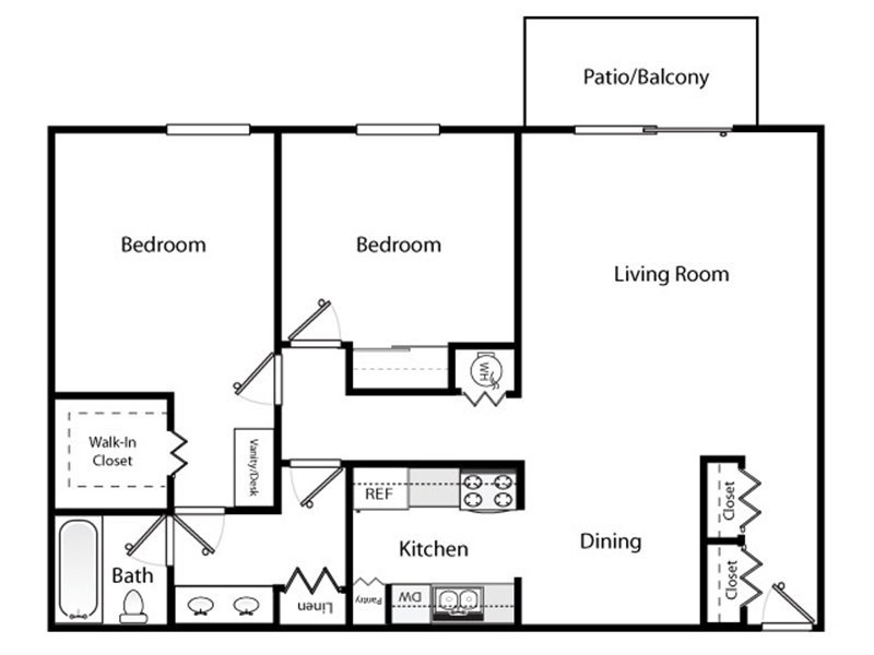 Our 2x1 Renovated is a 2 Bedroom, 1 Bathroom Apartment